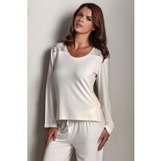 Luisa Moretti PAOLA női pizsama bambuszból L Krém szín / Cream