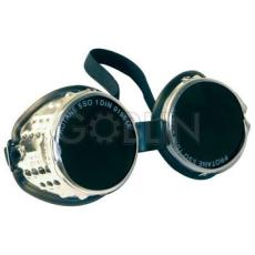 Lux Optical® Alulux hegesztõszemüveg, alumínium keret, cserélhetõ üveg, gumipánt, oldalszellõzés