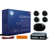 M-Tech 4-sensor parking assist system with buzzer 4X - BLACK