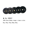 """m-tech (H) X100527 """"100% black rubber bumper"""" gumis súlytárcsa, 10kg"""