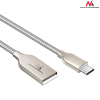 MACLEAN Maclean MCE192 Cable USB Type-C metal silver Quick & Fast Charge
