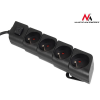 MACLEAN Maclean MCE42 Power Strip 4-outlets with switch, French type 1,4m Cable