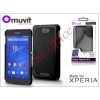 Made for Xperia MUVIT Sony Xperia E4 (E2104/E2105) hátlap - Made for Xperia Muvit Soft Touch - black
