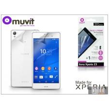 Made for Xperia MUVIT Sony Xperia Z3 (D6603) képernyő- és hátlapvédő fólia - Made for Xperia Muvit - 2 db/csomag - antifinger/antiglare mobiltelefon kellék