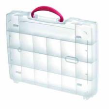 MAGG PROFI Műanyag tároló doboz 325x255x52xmm, 21 rekeszes, fogantyúval barkácsolás, csiszolás, rögzítés