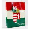 Magyar címeres piros-fehér-zöld dísztasak 23x18 cm