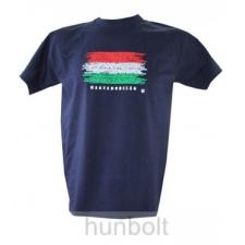 Magyarország feliratos, zászlós póló sötétkék , S méret férfi póló