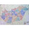 Magyarország régiói, megyéi, kistérségei és települése 120x87 cm Ívben, fóliázva