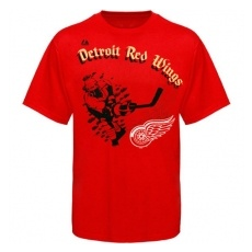 Majestic Detroit Red Wings gyerek póló red Slash Play - XL