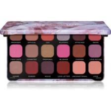 Makeup Revolution Forever Flawless szemhéjfesték paletta árnyalat Unconditional Love 18 x 1,1 g szemhéjpúder