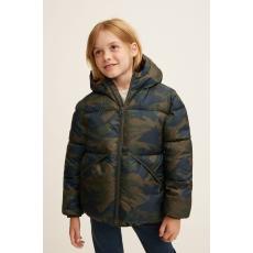 Mango Kids - Gyerek rövid kabát America 104-164 cm - aranybarna - 1347005-aranybarna