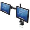 MANHATTAN Fali/asztali állvány - Dupla karos, 2db monitor részére (max.VESA:100x100, fekete)