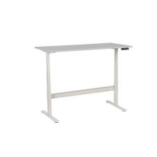 Manutan irodai asztal, elektromosan állítható magasság, 160 x 80 x 62,5 - 127,5 cm, egyenes kivitel, ABS 2 mm, világosszürke irodabútor