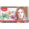 """MAPED Akvarell ceruza készlet, ecsettel, fém doboz,  """"Artists"""", 72 különböző szín"""