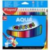 """MAPED Akvarell ceruza készlet, háromszögletű, ecsettel, MAPED \""""Color Peps\"""", 24 különböző szín [24 db]"""