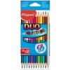 MAPED Color`Peps Duo színes ceruza készlet, háromszögletű, 12 különböző szín