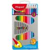 MAPED Color`Peps színes ceruza készlet, háromszögletű, fém doboz, 12 különböző szín
