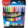 """MAPED Filctoll készlet, 1-5 mm, kimosható, MAPED """"Color\´Peps"""", 12 különböző szín"""