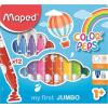 """MAPED Filctoll készlet, 1- 5 mm, kimosható, vastag, MAPED """"Color`Peps Jumbo"""", 12 különböző szín"""