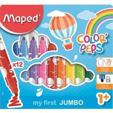 """MAPED Filctoll készlet, 1- 5 mm, kimosható, vastag, MAPED """"Color`Peps Jumbo"""", 12 különböző szín irodai kellék"""