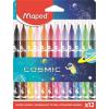 """MAPED Filctoll készlet, 2,8 mm, kimosható, MAPED """"Cosmic"""", 12 különböző szín"""