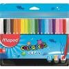 """MAPED Filctoll készlet, 2 mm, kimosható, MAPED """"Color\´Peps Ocean"""", 18 különböző szín"""
