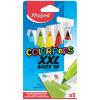"""MAPED Filctoll készlet, kimosható, vastag, ecsetjellegű, MAPED """"Color'Peps XXL"""", 5 különböző szín"""