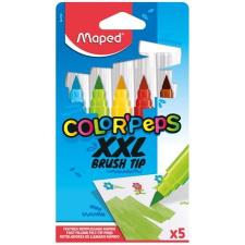 """MAPED Filctoll készlet, kimosható, vastag, ecsetjellegű, MAPED """"Color'Peps XXL"""", 5 különböző szín filctoll, marker"""