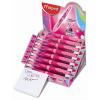 """MAPED Golyóstoll display, 0,5 mm, kétvégű, rózsaszín tolltest,  """"Twin Tip"""", 4 vidám szín"""