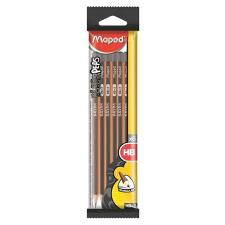 MAPED Grafitceruza készlet, HB, háromszögletű, MAPED, fekete ceruza