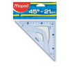 "MAPED Háromszög vonalzó, műanyag, 45°, 21 cm, MAPED ""Graphic"""