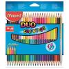 """MAPED Színes ceruza készlet, háromszögletû, kétvégû, MAPED """"Color`Peps Duo"""", 48 különbözõ..."""