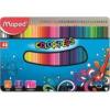 """MAPED Színes ceruza készlet, háromszögletű, fém doboz, MAPED \""""Color`Peps\"""", 48 különböző szín [48 db]"""