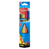 """MAPED Színes ceruza készlet, háromszögletű, hegyezővel, MAPED """"Color\´Peps"""", 12 különböző szín"""