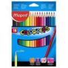 """MAPED Színes ceruza készlet, háromszögletű, MAPED \""""Color`Peps\"""", 18 különböző szín [18 db]"""