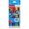 """MAPED Színes ceruza készlet, kétvégű, háromszögletű,  """"Color`Peps Duo"""", 24 különböző szín"""