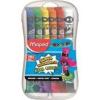 MAPED Tempera készlet, 12 darabos, műanyag dobozban, MAPED [12 db]