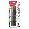 MAPED Tűfilc készlet, 0,4 mm, MAPED Graph`Peps, 4 különböző hagyományos szín (IMA749144)