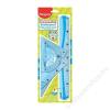 MAPED Vonalzókészlet, műanyag, hajlítható, 4 darabos, MAPED Flex (IMA244304)