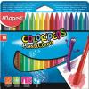 """MAPED Zsírkréta,  """"Color`Peps"""" PlastiClean, 18 különböző szín"""