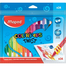 """MAPED Zsírkréta, kitekerhető, MAPED """"Color`Peps"""", 24 különböző szín kréta"""