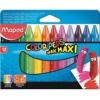"""MAPED Zsírkréta, MAPED \""""Color`Peps MAXI Wax\"""", 12 különböző szín [12 db]"""