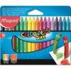 """MAPED Zsírkréta, MAPED \""""Color`Peps Wax\"""", 18 különböző szín [18 db]"""
