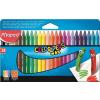 MAPED Zsírkréta, MAPED Color`Peps, Wax, 24 különböző szín (IMA861013)