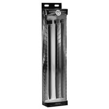 Master Series Master Series Bolted XL - kockás szilikon húgycsőtágító dildó szett (3 részes) - nagy műpénisz, dildó