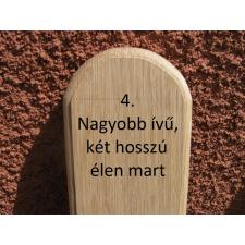 Mátra 145 cm-es tölgy kerítéselem 4. profil felületkezelve mahagóni színre építőanyag