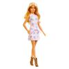 Mattel Barbie Fashionistas: Szőke hajú Baba Csikos Virágos ruhában