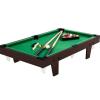 Max Mini pool biliárd felszereléssel 92 x 52 x 19 cm - barna