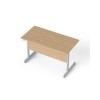 MAYAH Íróasztal, szürke fémlábbal, 120x70 cm, MAYAH Freedom SV-25, kõris