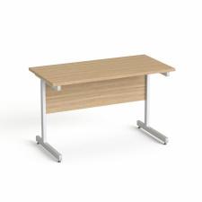 """MAYAH Íróasztal, szürke fémlábbal, 120x70 cm, MAYAH """"Freedom SV-25"""", kőris íróasztal"""